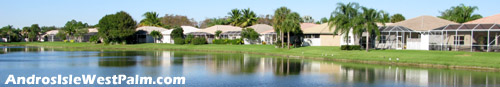 Imagine this is the view from the back yard of your sunny Florida residence within Andros Isle in West Palm Beach.