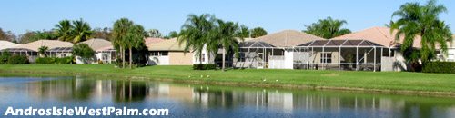Many of the homes at Andros Isle enjoy a nice lake view such as this one.